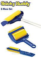 Набор щеток валиков Sticky Buddy Pro 3  (Стики Бадди Про 3) со шваброй для чистки ковра купить в Украине