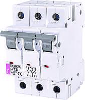 Автоматичний вимикач модульний 3p 25А 6кА х-ка C, ETI ETIMAT 6 3p C25 (2145518)