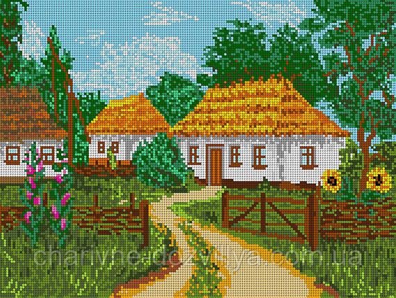 """Схема для вышивки бисером """"Украинский дворик"""" (полная зашивка), фото 2"""