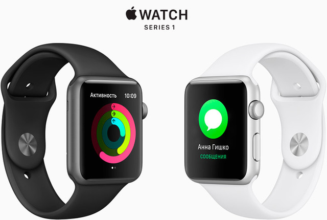 Смарт-часы Apple Watch Series 1 42mm Space Gray Aluminum Case with Sport Band Black (MP032)