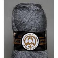 Турецкая  пряжа для вязания  Madame Tricote MERİNO GOLD 400 (мерино голд )меринос 60% шерсть 008  серый