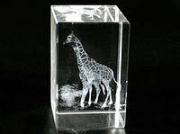 Фигурка Жираф голограмма в хрустале