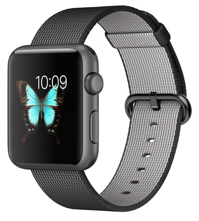 Смарт-часы Apple Watch Sport Space grey (38mm Black Woven Nylon)