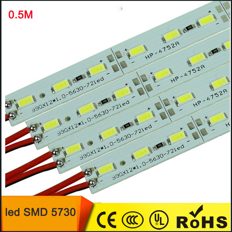 Светодиодная линейка 5730-36 led 0.5м 6500K, 12В IP20 белый