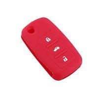 Чехол для ключа VW: Passat /Golf / Polo / Jetta / Sharan / Touran / Tiguan / Touareg / Caddy силиконовый