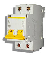 Автоматичний вимикач ВА47-29М 2P 50A 4.5 кА характеристика C ІЕК, фото 1