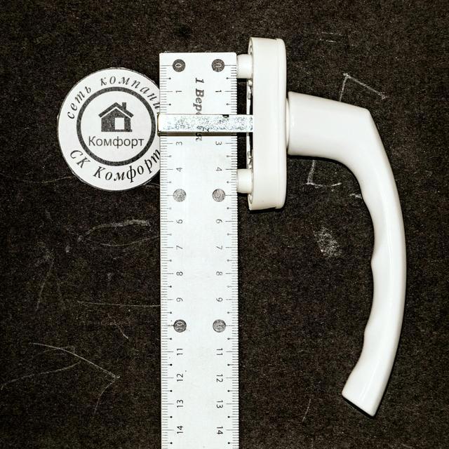 Размеры между креплениями ручки Hoppe