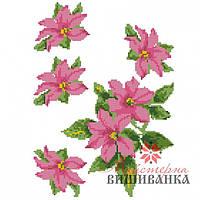 """Схема для вышиванки на водорастворимом флизелине """"Рожевий клематис"""" СФФ-12"""