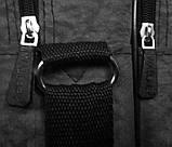 Мужская сумка барсетка через плечо папка портфель А4 в2647 черная армированная жатка 35х24х15см, фото 4