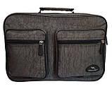 Мужская сумка барсетка через плечо папка портфель фабричный А4 8w2647 хаки 35х24х15см, фото 2