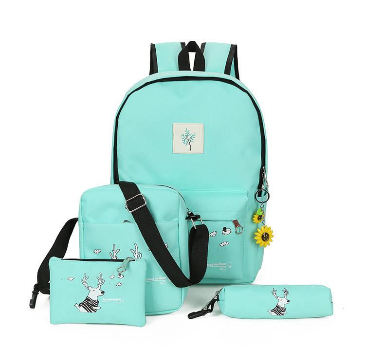 Яркий молодежный рюкзак (+сумочка, косметичка и пенал в комплекте)