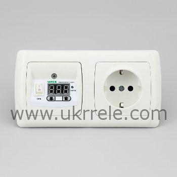 Терморегулятор для теплого пола с розеткой РТ-16/2Р1