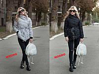 Куртка женская стильная асимметричного кроя зима 5 цветов Gm186