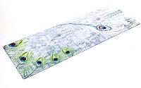Коврик для йоги (Йога мат) замша, каучук 3мм двухслойный FI-5662-20 (1,83мx0,61мx3мм, серый-салат)