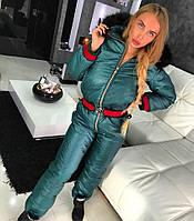 Комбинезон Doratti модный теплый с мехом на капюшоне и утеплителе силикон 200 разные цвета Gdor157