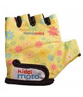 Перчатки Детские Kiddi Moto Жёлтые С Цветами