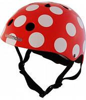 Шлем Kiddi Moto, Красный В Белый Горошек