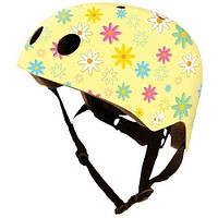 Шлем Kiddi Moto Жёлтый С Цветами