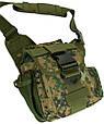 Надійна чоловіча сумка Traum 7035-07 зелений, фото 2
