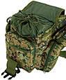 Надійна чоловіча сумка Traum 7035-07 зелений, фото 5