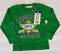 Детский батник Super kids р.98-128 зелёный