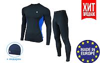 Мужской спортивный костюм для бега Radical Intensive компрессионная спортивная одежда, тайтсы+рашгард