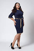 Платье мод №294-3, размеры 50,52,54 темно-синее