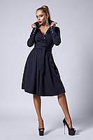 Платье мод №538-1, размеры 44 темно-синее