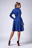 Платье мод №538-1, размеры 44 темно-синее, фото 2