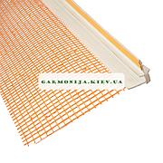 Профиль примыкания оконных откосов с сеткой 2.5м. белый