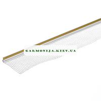Профиль примыкания оконных откосов с сеткой, 1.6м. белый