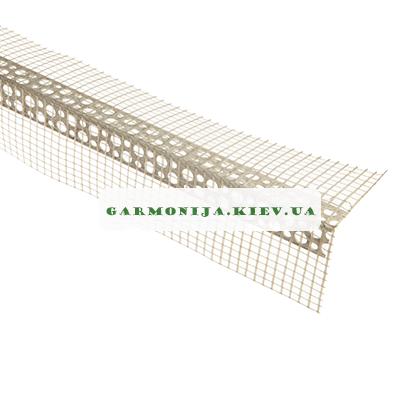 Угол перфорированный пластиковый с сеткой контрашульц 3.0 м, фото 2