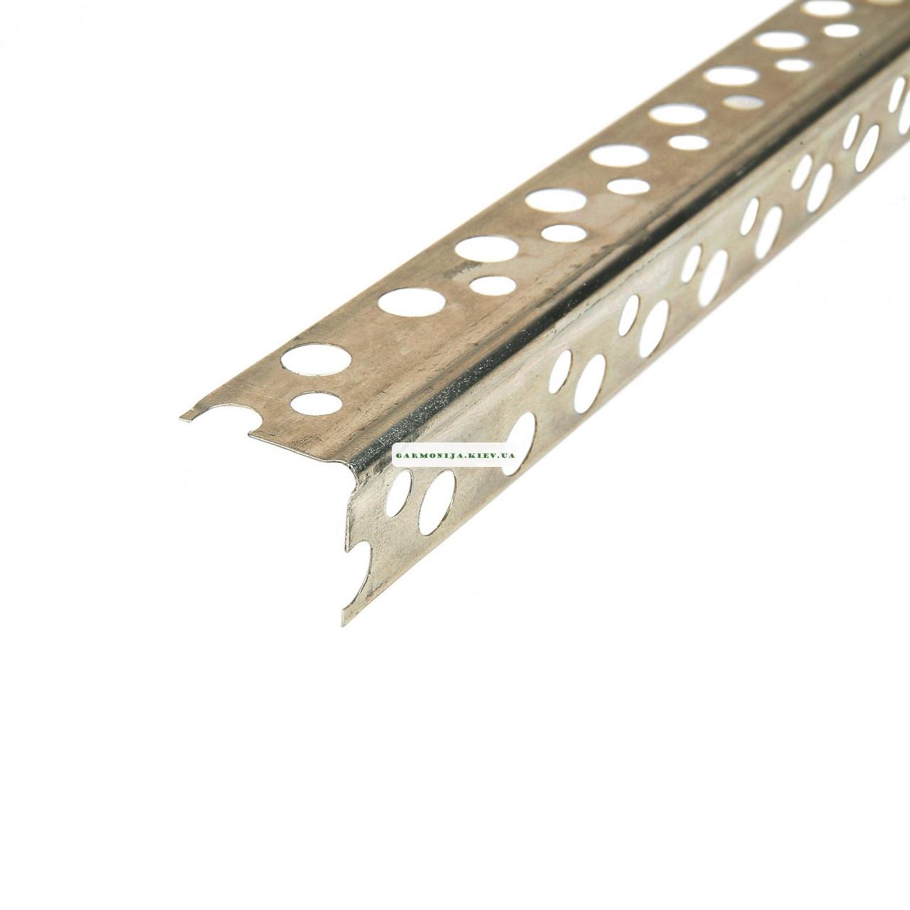 Угол перфорированный аллюминиевый 2.5 м. 0,21x19x19 мм