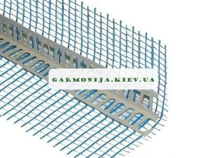 Угол перфорированный пластиковый с сеткой зеленой, синей 125 пл 2.5 м, фото 2