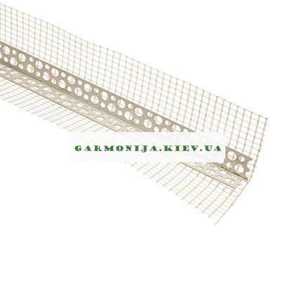 Угол перфорированный пластиковый с сеткой контрашульц 2.5 м, фото 2