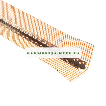 Угол перфорированный аллюминиевый с сеткой контрашульц 3.0 м, фото 2