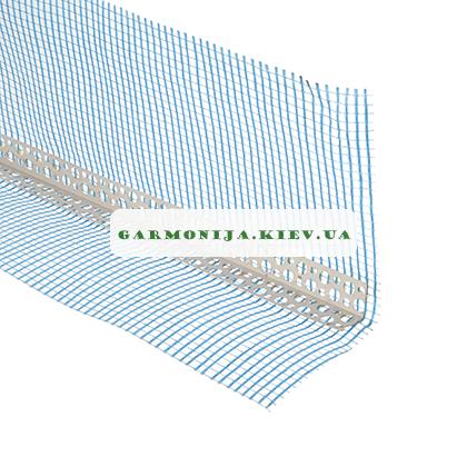 Профиль угловой с зеленой сеткой 10х10 мм, 3 м