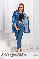 Удлиненная джинсовая куртка , фото 1