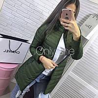 Куртка женская осенняя длинная Дарья 08, модные куртки