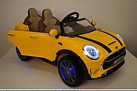 Двухместный детский электромобиль M 3595 EBLR-6 Mini Cooper, кожаное сиденье