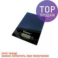 Весы кухонные электронные до 5кг Спартак CK-1912 Black / весы для продуктов