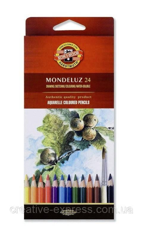 Олівці кол. аквар. Mondeluz, 24 шт.