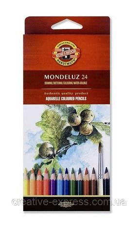 Олівці кол. аквар. Mondeluz, 24 шт., фото 2