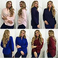 Модная кофточка, блузка с удлиненной спинкой. Батал