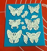 Силиконовый коврик для гибкого айсинга  бабочки №7