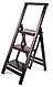Лестница большая, деревянная стремянка для дома цвет темный венге , фото 6