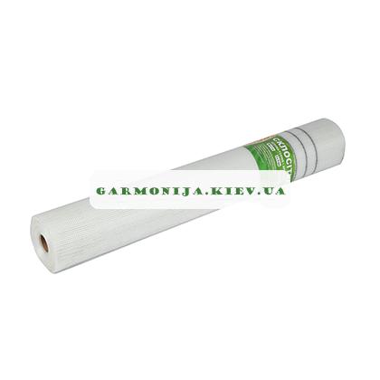 Сетка стеклотканевая Universal белая с черными полосами, 5х5 мм, 1х50 м, 60 г/м2