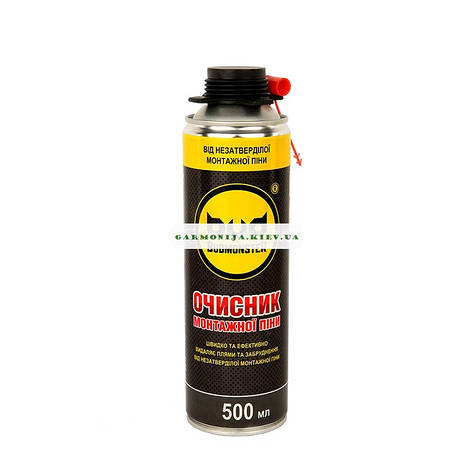Очиститель монтажной пены Budmonster 500 мл, фото 2