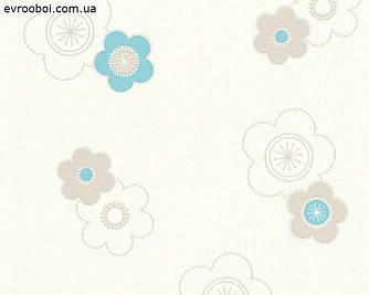 Обои виниловые, с мелкими цветочками 346772.