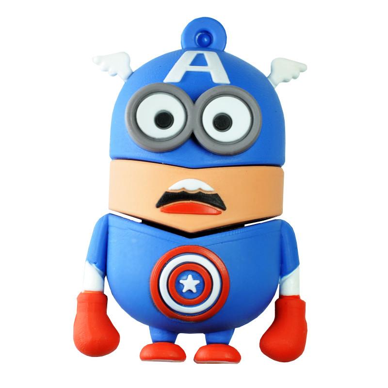 USB Флешка Миньон Капитан Америка 16GB